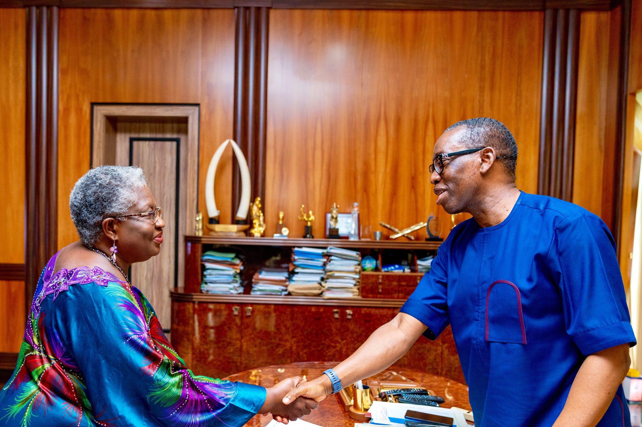 WTO: Okowa congratulates Okonjo-Iweala